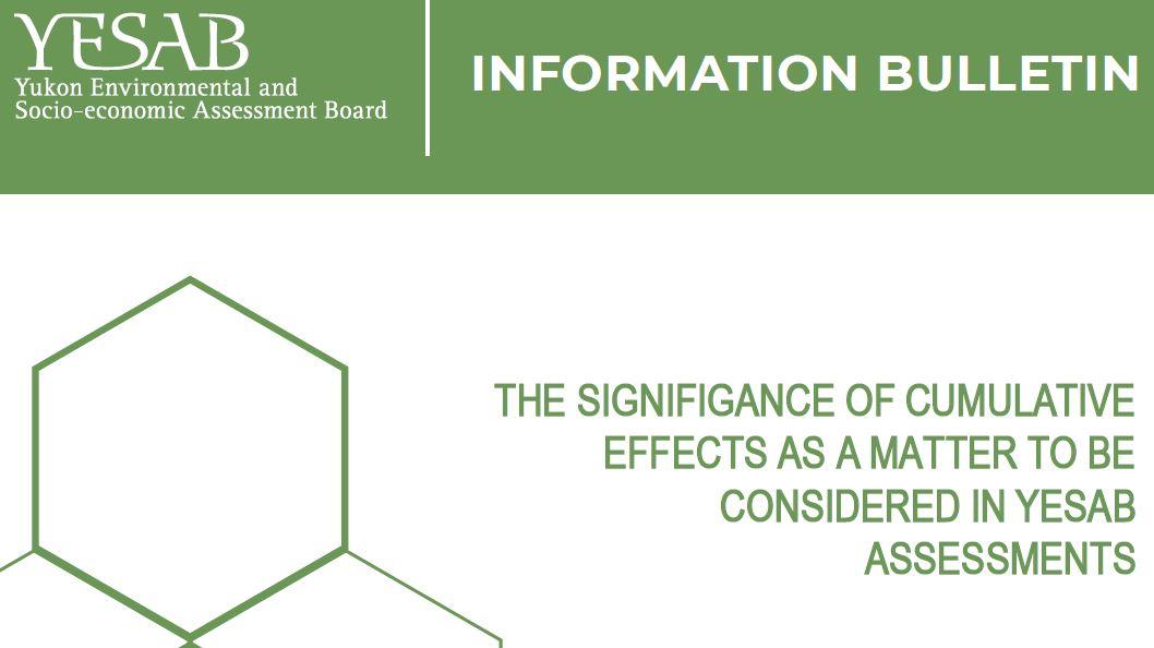 Cumulative Effects Information Bulletin Updated