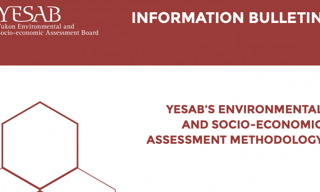 YESAB's Environmental and Socio-economic Assessment Methodology updated and available!